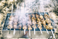 Meat on fire Royalty Free Stock Images