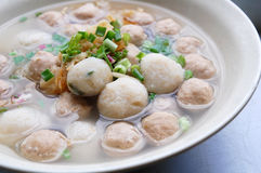 Meat and fish ball soup Stock Image