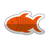 Meat fish isolated icon Stock Photography