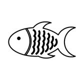 Meat fish isolated icon. Vector illustration design Stock Photo