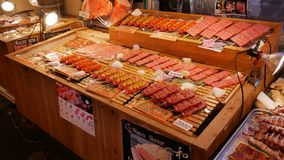 Meat in the Fish Market royalty free stock photography