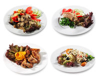 Meat and Fish Plate Royalty Free Stock Photos