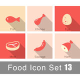 Meat food icon set  design, vector illustration. Meat food icon set  design  vector illustration Stock Photography