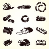 Meat food set. Vector. Illustration vector illustration