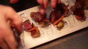 Meat food small welcome. Beautiful Meat food small welcome stock video footage