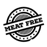 Meat Free rubber stamp Royalty Free Stock Images