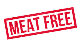 Meat Free rubber stamp Stock Image