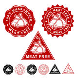 Meat Free Seals Icons Set Stock Image