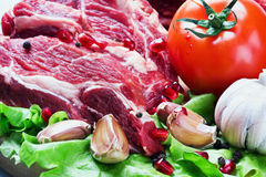 Meat and fresh vegetables Stock Photography