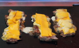 Meat fried with cheese Royalty Free Stock Photos