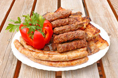 Meat From The Grill Stock Images