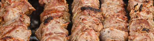 Meat  on a grill Royalty Free Stock Photography