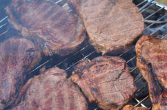 Meat grill, barbecue closeup Stock Image