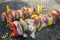 Meat on grill , barbeque Stock Images