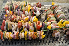 Meat on grill , barbeque Royalty Free Stock Image