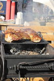 Meat on the grill Royalty Free Stock Image