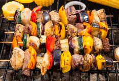 Meat on grill Royalty Free Stock Images
