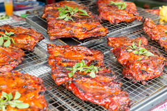 Meat grill at street market Royalty Free Stock Photo