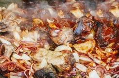 meat grillade grönsaker royaltyfria bilder