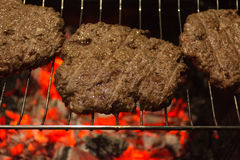 Meat - Grilled Burger Stock Photos