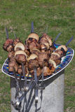 Meat grilled caucasus barbecue on plate Royalty Free Stock Images