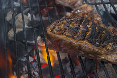 Meat grilling on the barbecue Stock Photo