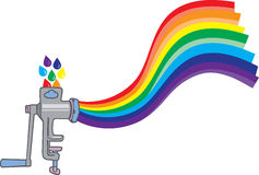 Meat grinder creating a rainbow Royalty Free Stock Image