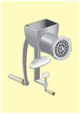 MEAT GRINDER. Device for growing of meat shallow Royalty Free Stock Photography