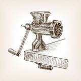 Meat grinder sketch style vector illustration Stock Photos