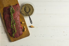 Meat and Herbs Stock Photo