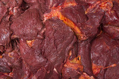 Meat. Horse food macro red Royalty Free Stock Photography