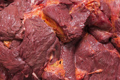 Meat. Horse food macro red Stock Image