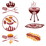 meat,hot dog and burger Royalty Free Stock Photography