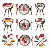 Meat,hot dog and burger Royalty Free Stock Photos
