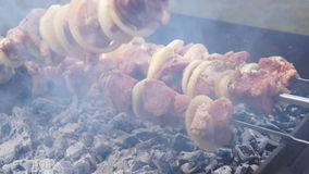 Meat hot fire barbecue stock footage