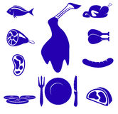 Meat icon  Royalty Free Stock Images