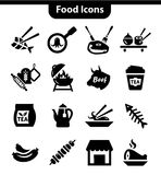 Meat icons set. Vector Food and Meat Icons Set for web and mobile Stock Photography