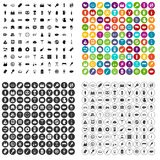 100 meat icons set vector variant. 100 meat icons set vector in 4 variant for any web design isolated on white Stock Image