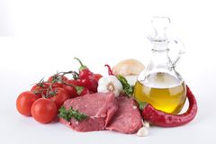 Meat and ingredient Royalty Free Stock Images