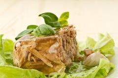Meat jellied Stock Photo