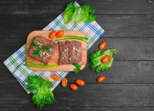 Meat jelly aspic galantine Royalty Free Stock Images