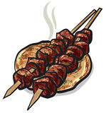 Meat kebab Stock Images