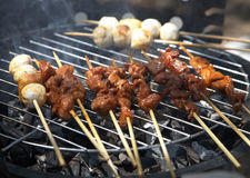 Meat Kebab On Bbq Royalty Free Stock Photography