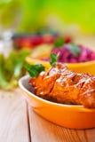 The meat kebab skewer Royalty Free Stock Images