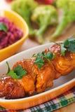 The meat kebab skewer Stock Image