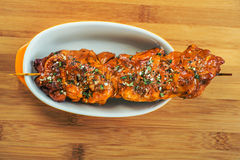 Meat kebab skewer Stock Image