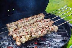 Meat kebab skewers Royalty Free Stock Image