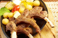 Meat lamb on rib Royalty Free Stock Images