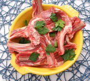 Meat of a lamb. Some fresh meat of a lamb Royalty Free Stock Photo