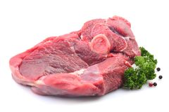 Meat lamb on a white background royalty free stock photos